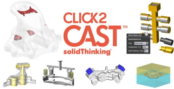 Metal Döküm Simülasyon solidThinking Click2Cast - Yazılımı