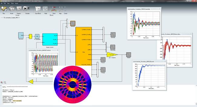 Flux - Activate alçak frekans elektromanyetik simülasyon ve 1D sistem modelleme eş-zamanlı çözümü