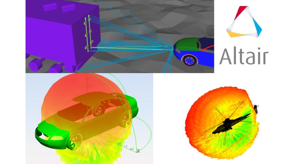 Altair newFASANT yüksek frekans elektromanyetik simülasyon örnekleri