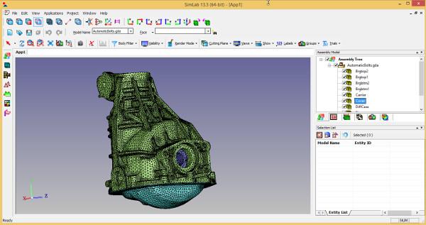 ALTAIR SimLAb 13.3 - Feature tabanlı ve proses odaklı sonlu eleman modelleme yazılımı