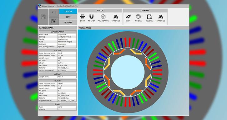 Elektrikli dönen makinelerin kolay ve hızlı tasarımı FluxMotor