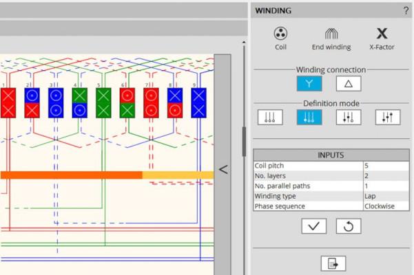 Altair FluxMotor yazılımında sargıların tanımlanması