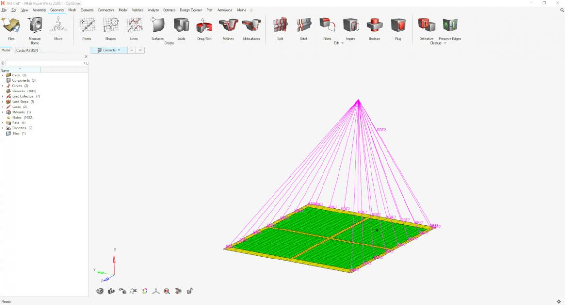 Altair HyperWorks - OptiStruct psd analizi