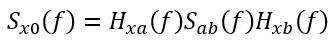 PSD cross korelasyon formülü