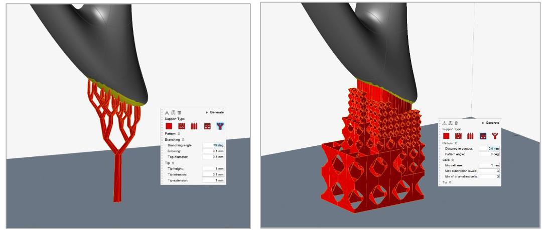 Altair Inspire Print3D, tree ve h-cell destek seçenekleri