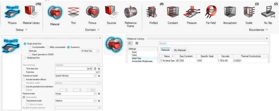 HyperWorks CFD sıkıştırılabilir akış tanımlama