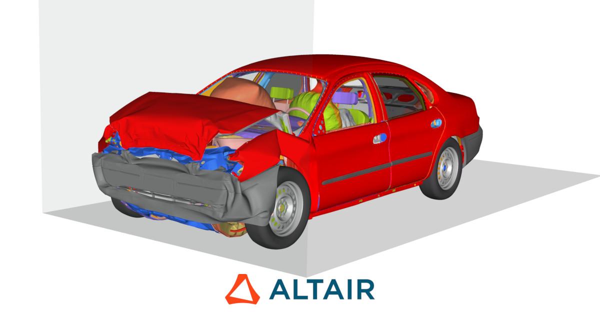 Altair Radioss çarpışma simülasyonu