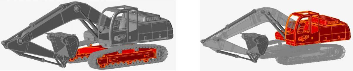 Ekskavatör mekanik sistem simülasyonu modeli