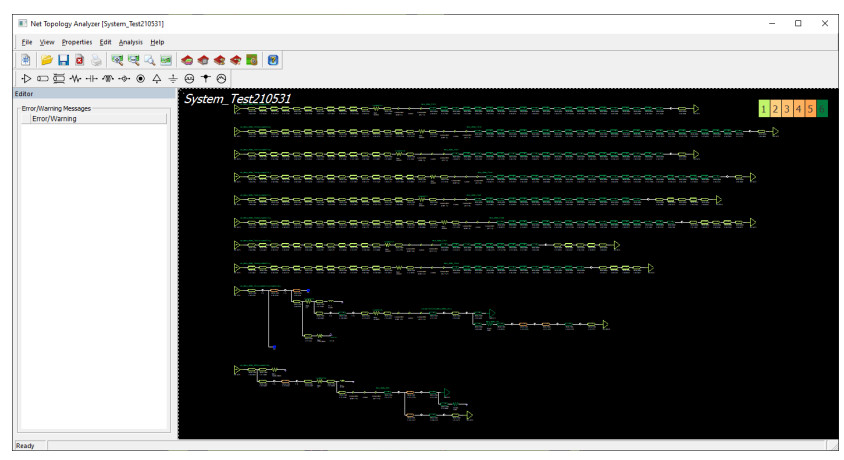 Altair PollEx sistem seviyesinde Net topolojisi