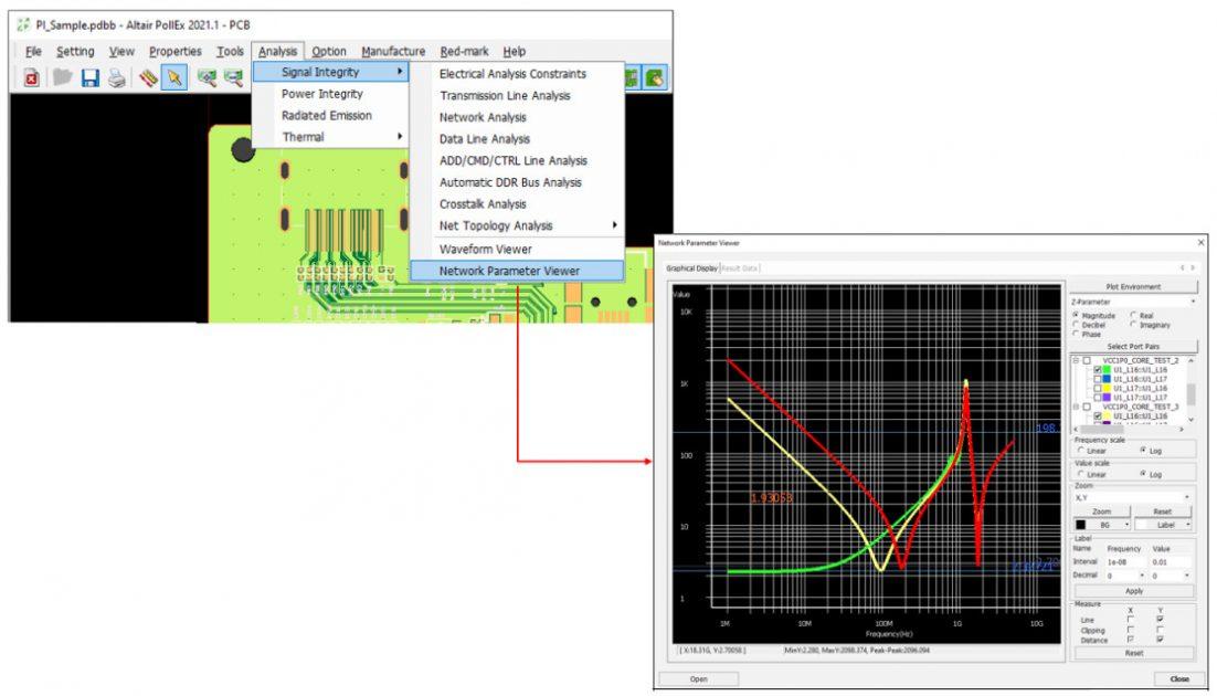 Altair PollEx network parametre görüntüleyici